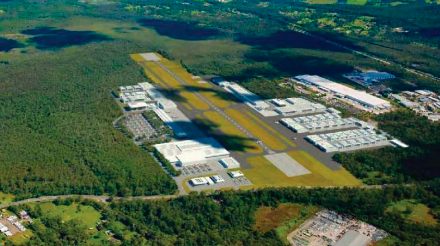 Artist's impression of an expanded Warnervale Airport by 2037