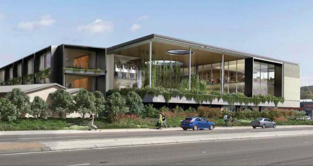 An artist's impression of the proposed new Gosford RSL Club on the Corner of Central Coast Highway and Yallambee Ave, West Gosford