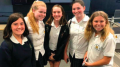 Write-On students from Umina were praised for their thoughtful questions during the Sydney Writers' Festival Q and A section