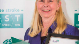 Ms Brenda Booth with her award