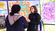 Community feedback pop up stall at Harvest Festival