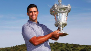 Dimitrios Papadatos with his 56th Open de Portugal trophy. Image courtesy of golf.org.au