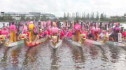 Dragons Abreast groups at a regatta