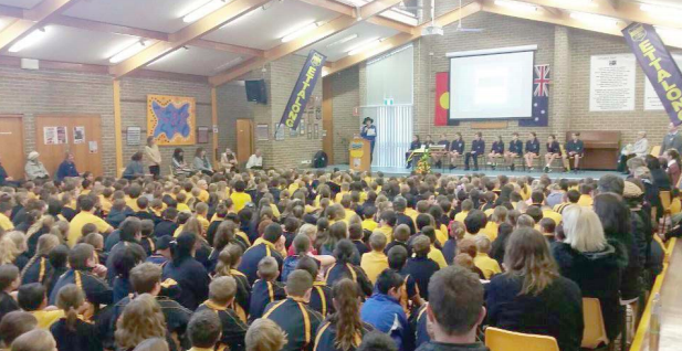 The 90th birthday assembly for Ettalong PS was packed to the brim with EPS community members past and present
