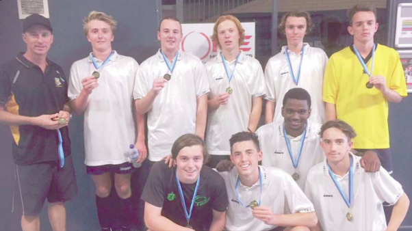 The Open Boys' futsal team and regional champions 2018
