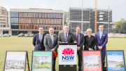 Mr Taylor Martin MLC, Mr Adam Crouch Member for Terrigal, Mr Anthony Roberts NSW Planning Minister, Mr Scot MacDonald Parliamentary Secretary, Ms Lee Shearer Coordinator General, Mr Michael Cassel CEO CCRDC