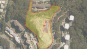Aerial view of the proposed development site