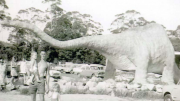 The Australian Reptile Park has released some archival photos that capture the Park throughout the years; here's Ploddy the Dinosaur in his younger years