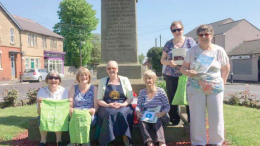 Woy Woy CWA's Ms Kate Jagger (third from the right) with Greenside sister branch members