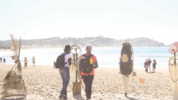 5 Lands Walk participants were treated to dozens of beach sculptures in 2018