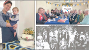 Ms Hilary van Haren with baby Nora and the CWA birthday cake she created Mrs Staples (front row third from right) with the original Woy Woy CWA Branch in 1932