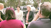 Shadow NSW Minister for Roads, Ms Jody McKay, with Member for Swansea, Ms Yasmin Catley at Carters Rd Lake Munmorah in 2017