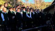 The Pretty Beach School Choir performed at the 5 Lands Walk 2018