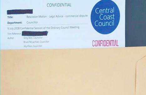 The confidential document and envelope