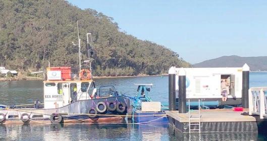 The dredge at Ettalong Wharf