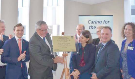 Premier, Ms Gladys Berejiklian with Health Minister, Mr Brad Hazzard, Member of the Legislaitve Council, Mr Taylor Martin, Parliamentary Secretary, Mr Scot MacDonald, Member for Terrigal, Mr Adam Crouch, and hospital staff