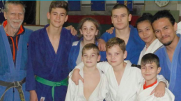 Kido Judoka from Kido Mingara Academy with Coach Mr Peter Acciari (far left)