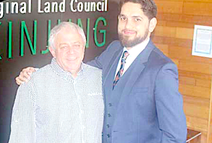 Mr Matthew West, Darkinjung Chairperson and the land council's new CEO, Mr Geoffrey Scott