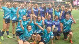 St Peter's Rugby 7's Girls Team at Allianz Stadium