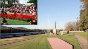 The concreted slabs have replaced flower beds in the War Memorial garden at Woy Woy