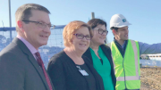 Parliamentary Secretary for the Central Coast, Mr Scot MacDonald, with Acting Chief Executive, Central Coast Local Health District, Kate Lyons, Manager Wyong Hospital Redevelopment, Kate Rutledge and Senior Project Engineer Colliers International, Justin Larsson