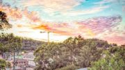 The winning photo from the Go Gosford photo competition was the big beautiful sunrise over Gosford's CBD with an even bigger promise of a new dawn for the city