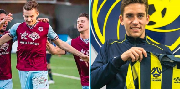 Jordan Murray (right) nd John Macdonald have signed with the Central Coast Mariners