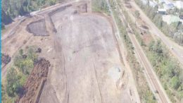 The cleared area at Kangy Angy has been described as a moonscape and an open cut mine