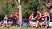 Killarney Vale Bombers AFL in action