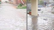 Houses in The Round Dve Avoca Beach were inundated when a water main burst