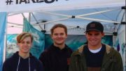 St Edward's students at the Take 3 for the Sea booth at Avoca Beach Markets