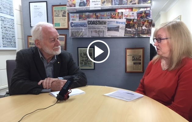 Tony Caldersmith of the Kangy Angy Residents Group talks on video