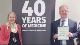 University of Newcastle Dean of Medicine Joint Medical Program, Prof Brian Kelly, Clinical Dean, Central Coast Clinical School, Dr Amanda Dawson, Chief Executive CCLHD, Dr Andrew Montague and Member for Dobell, Emma McBride