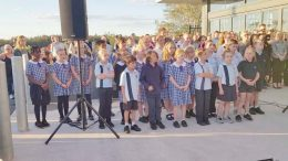 Wadalba Community School Choir performed at the opening