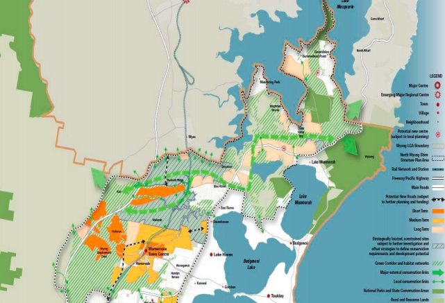 The former Wyong Council's proposed biodiversity planning in the North Wyong Shire Structure Plan