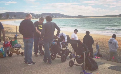 Members of the Dilf Club at a recent outing to Terrigal Beach