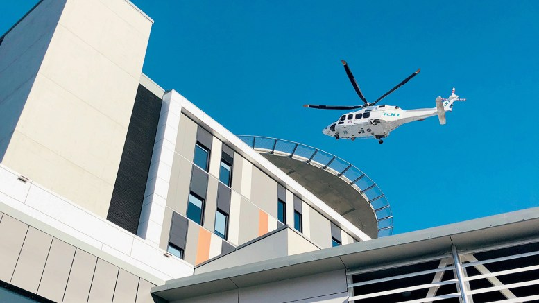 Gosford Hospital has a new helipad, set to improve patient transport.