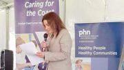 Former Senator Jacqui Lambie at The Glen for Women's Health Week