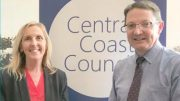 Central Coast Mayor, Jane Smith, with Parliamentary Secretary for the Central Coast, Scot MacDonald