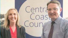 Central Coast Mayor, Jane Smith, with Parliamentary Secretary for the Central Coast, Scot MacDonald