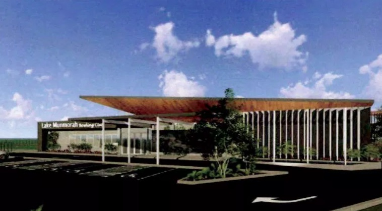 Artist impression of the proposed new clubhouse, north-west perspective. Image: supplied