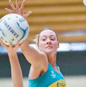 The CC Heart's Lauren Moore in action