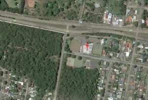 Aerial view of the site at 550 Pacific Highway, Lake Munmorah. Image: Google Maps