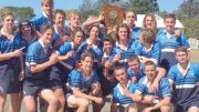 Terrigal's Under 16's Rugby Union team with the Buchan Shield