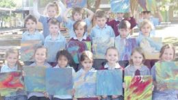 Kindergarten students from Umina Beach Public School. Image; School newsleter
