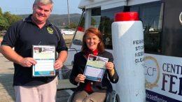 Gosford MP Liesl Tesch with Central Coast Ferries operator.