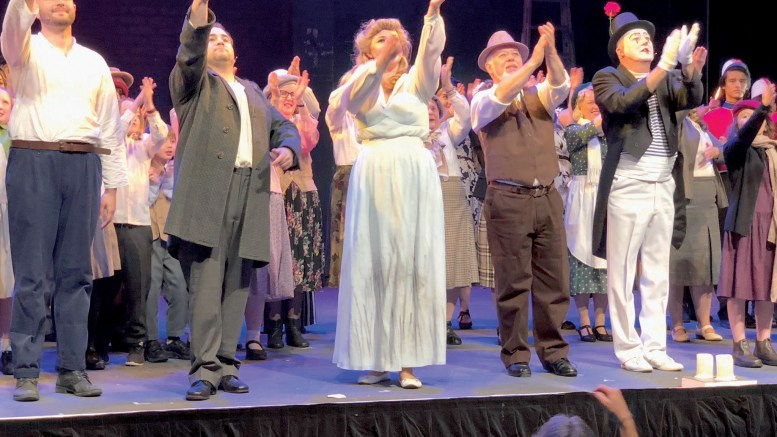 The cast of La Boheme in Gosford accept ovations from the crowd.