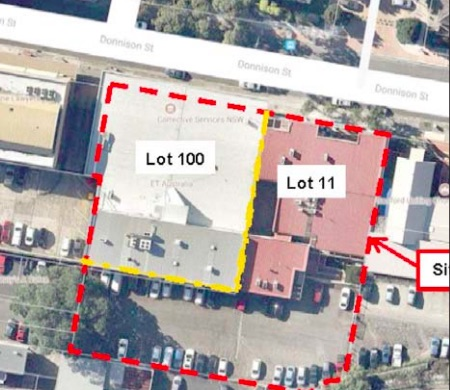 An aerial view of one part of the proposed cultural precinct which is part-owned by ET Australia and includes the Parkside Building