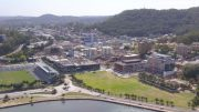 Image: aerial view of Gosford, NSW. Image: NSW Dept Environment & Planning 2018.