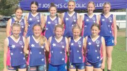 St Joseph's are one of the top four teams in NSW in the Open Oztag